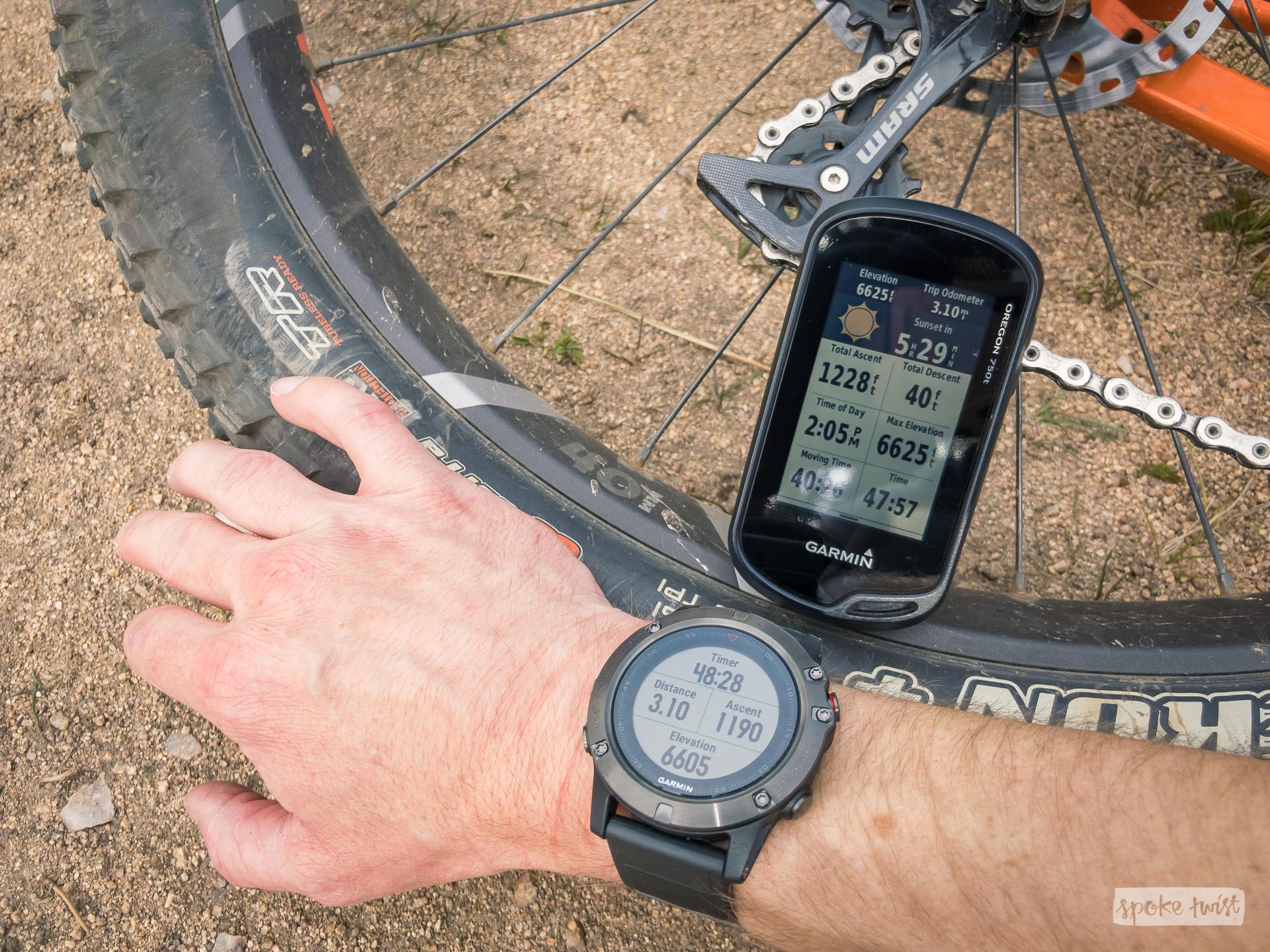 Mountain Biking with the Garmin Fenix 5X – Spoke Twist